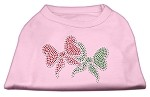Christmas Bows Rhinestone Shirt Light Pink XS (8)